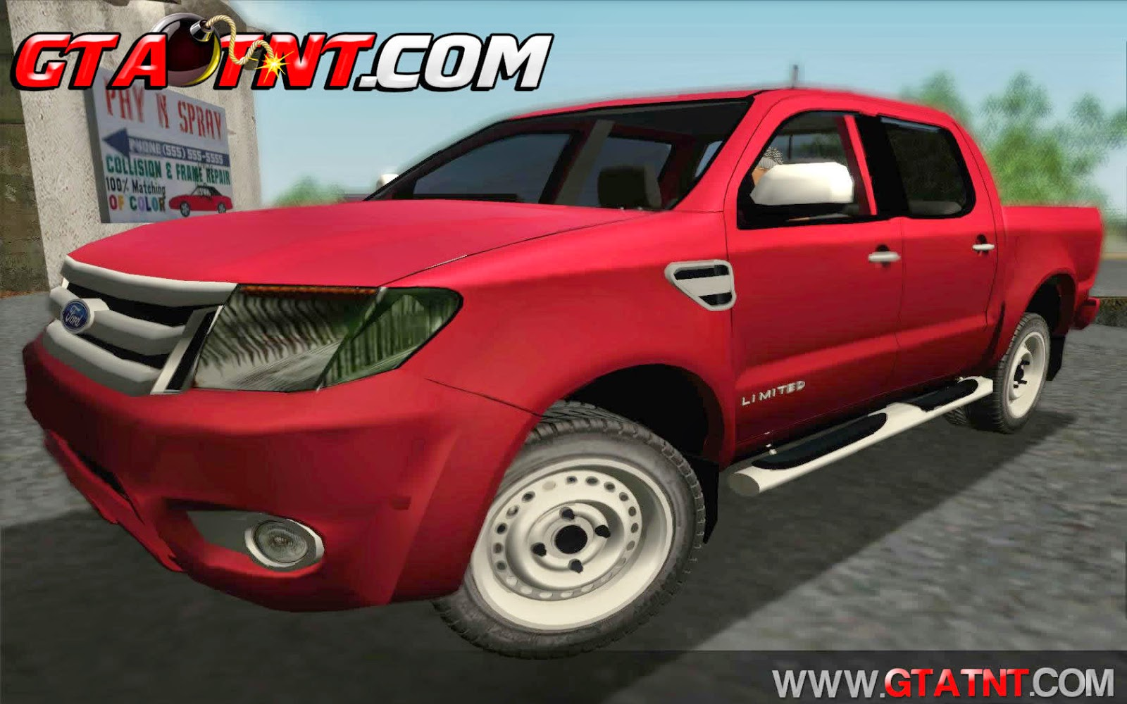 Ford Ranger Limited 2014 para GTA San Aandreas