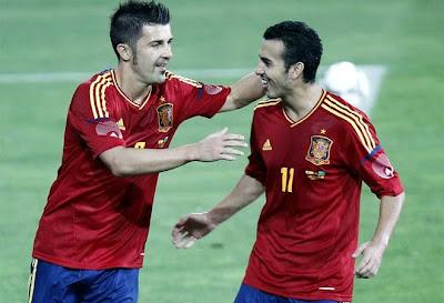 España goleó con ¡golazos! a Arabia Saudí