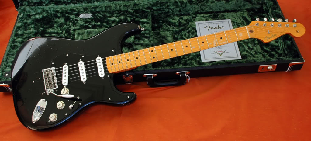Fender black mexican stratocaster dating