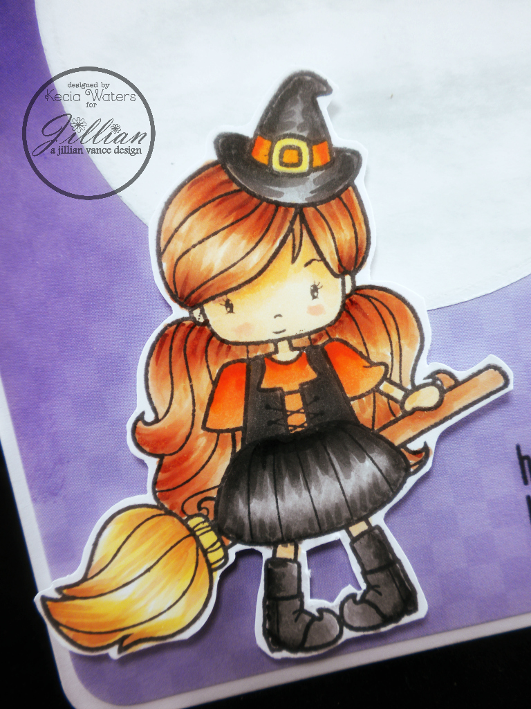 Whimsie Doodles, AJVD, Kecia Waters, Copic markers, witch