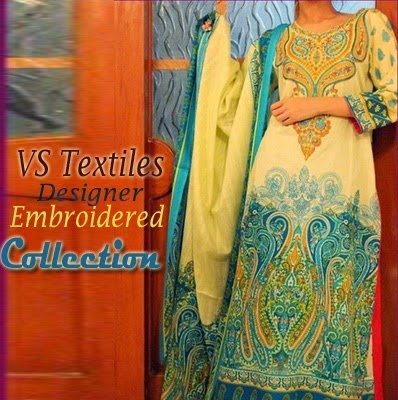 VS Textiles Designer Embroidered Dresses collection