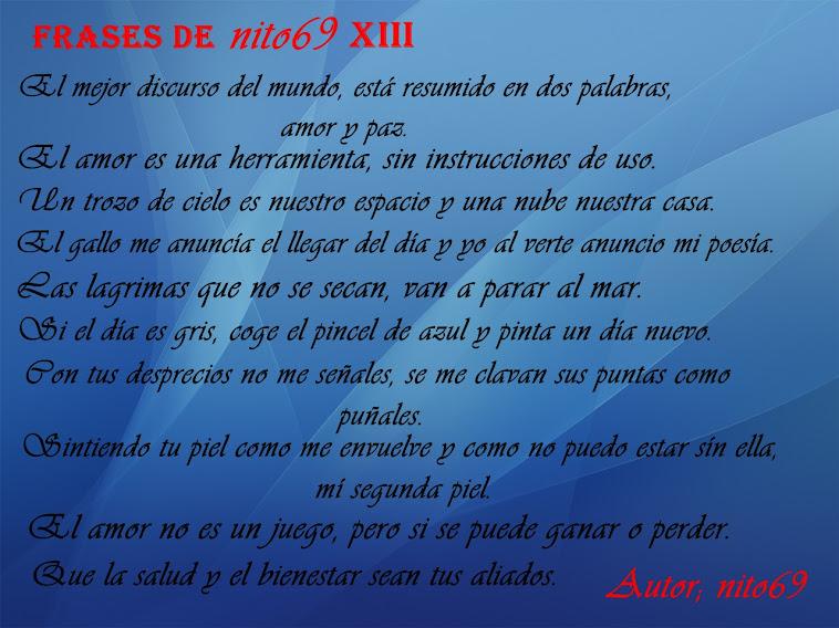 FRASES DE nito69 XIII