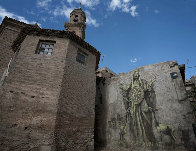 Street Art By South African Muralist Faith47 For Avant Garde Urban In Tudela, Spain. 3