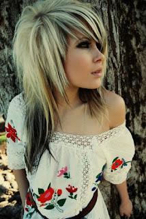 girl scene hairstyle