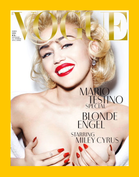 Miley Cyrus by Mario Testino for Vogue Germany