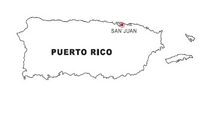 Puerto Rico Map Coloring Page