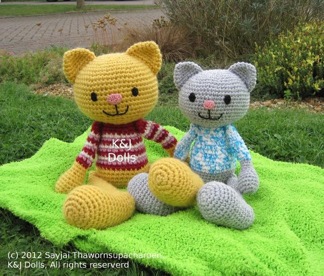 Large Amigurumi Free Patterns : Huggy Cat: Big Amigurumi Doll Pattern - Sayjai Amigurumi ...