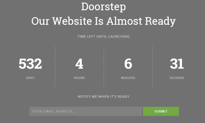 Download Doorstep Coming Soon Responsive Free Blogger Template