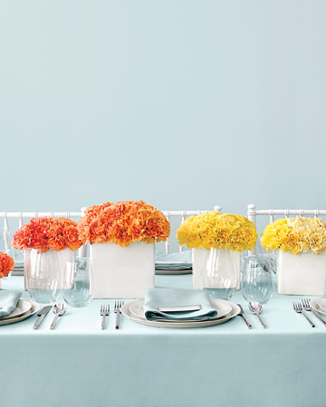 elements of design proportion carnation centerpiece