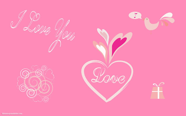 Rosa hintergrund mit text i love you