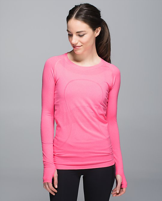 lululemon neon pink swiftly ls