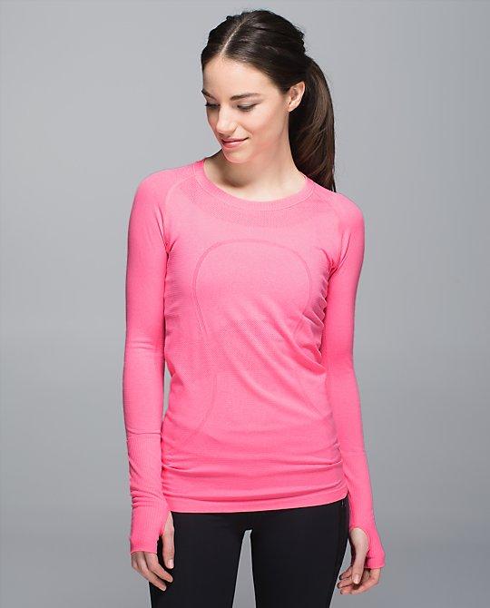 lululemon neon pink swiftly ls