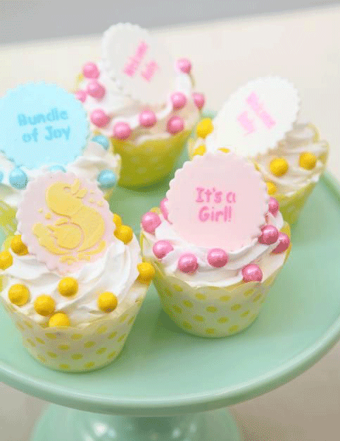 cupcake para baby shower