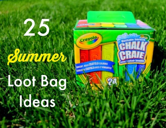 25 Summer Loot Bag Ideas - easy and inexpensive!