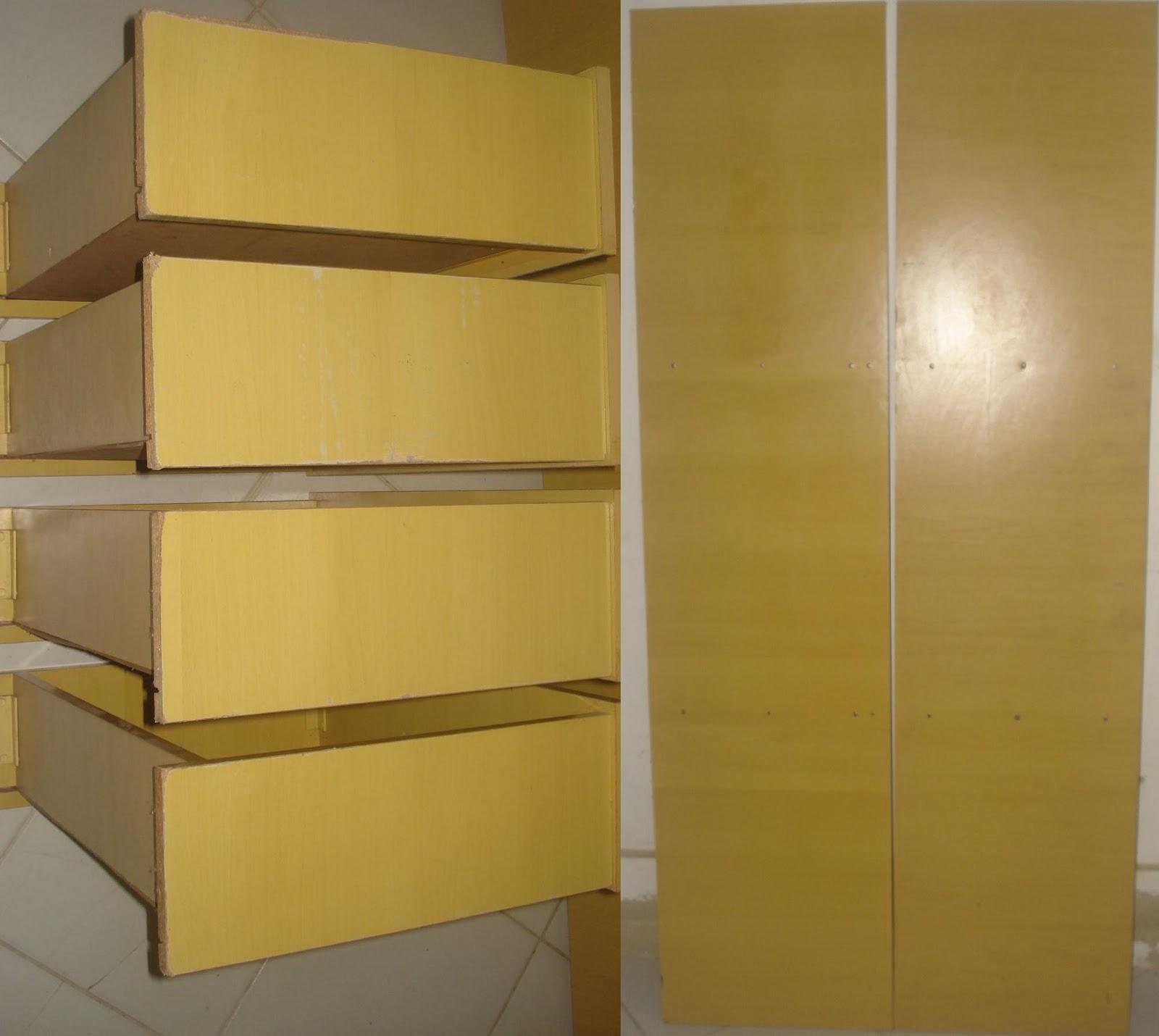 de quatro gavetas e duas peças de madeira compensado ou MDF  #9E7F2D 1600x1430