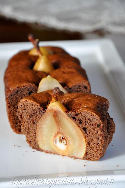 torta  pere e cioccolato al profumo di cannella