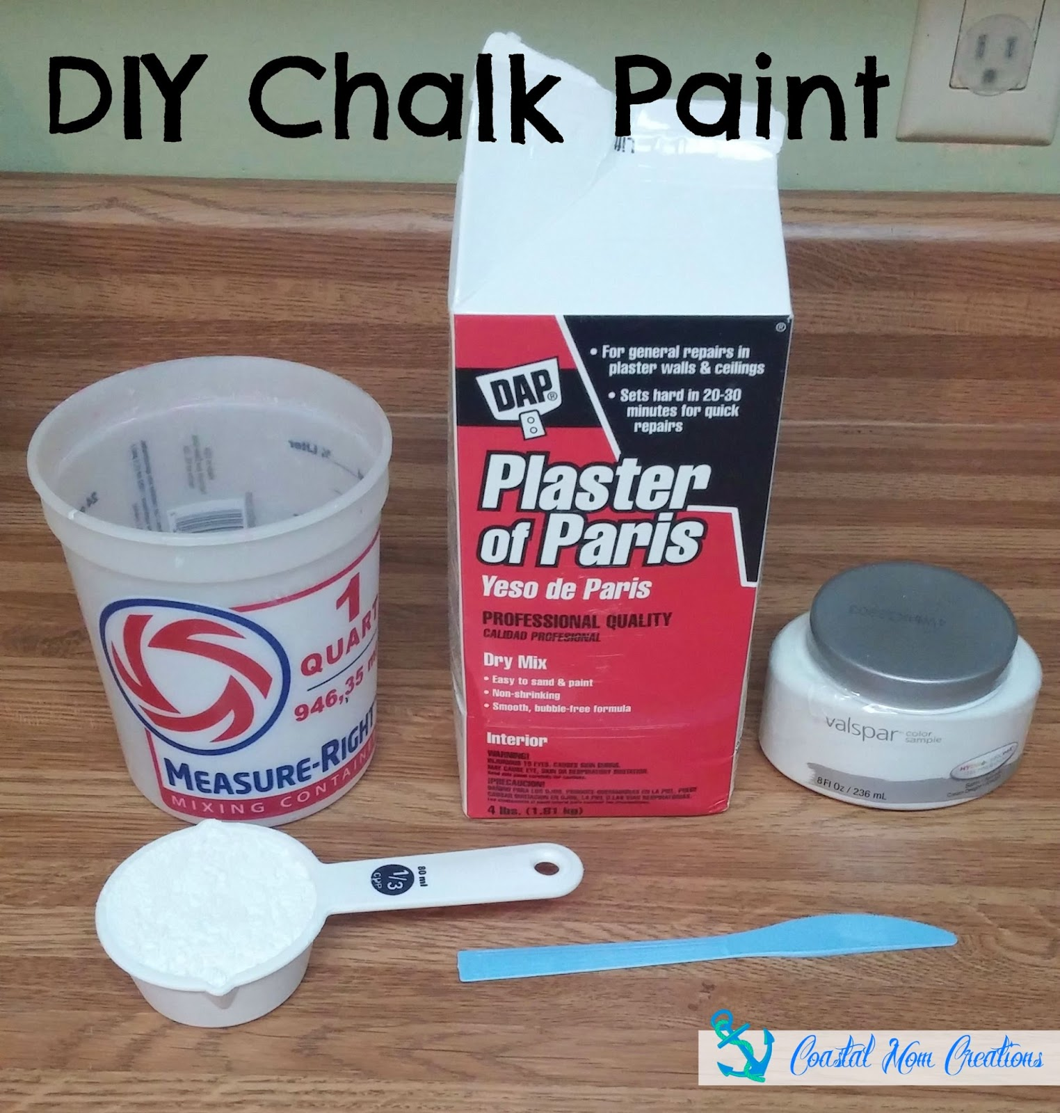 Coastal Mom Creations April - Plaster of paris chalk paint