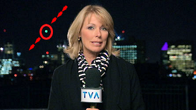 Mysterious Unidentified 'Green Orb' Caught on Live TV 10-2-14