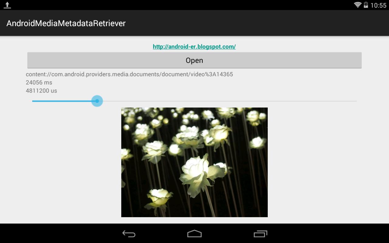 Use Mediametadataretriever To Scream Back Frame From Mp4 Interactively