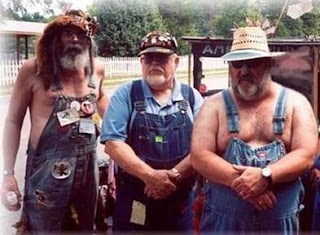 Three old rednecks half dressed standing- Jokes, Comic stories, Collection of stories,  short real inspirational stories, Funny stories, small motivational story, unique jokes and quotations