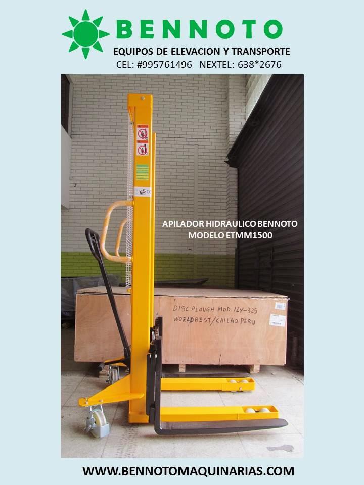 Venta de carretillas hidraulicas y apiladores hidraulicos for Precio ascensor hidraulico 3 paradas