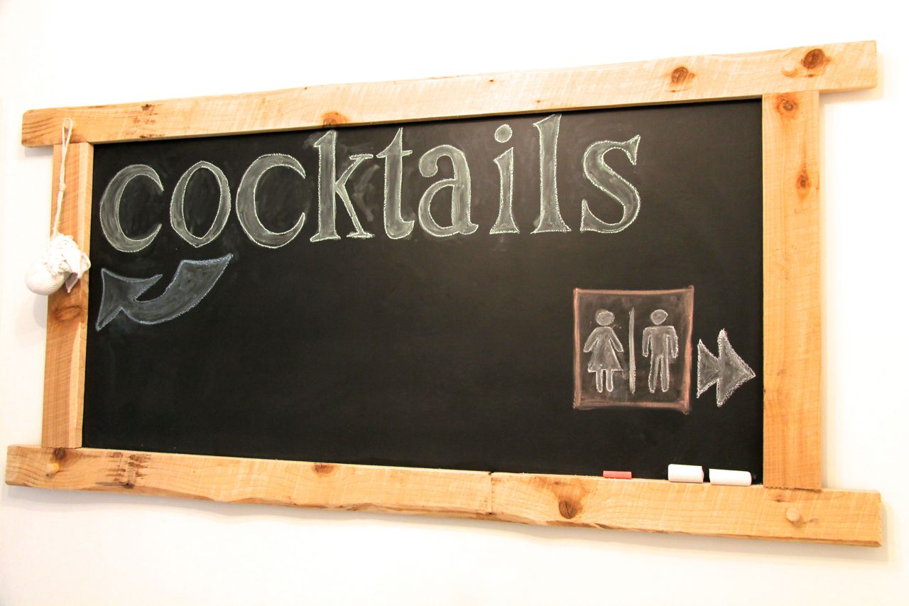 cocktail chalk board