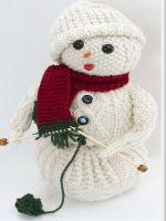 patron gratis muñeco de nieve amigurumi de punto