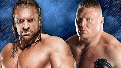 HHH se enfrenta al monstruo Brock Lesnar