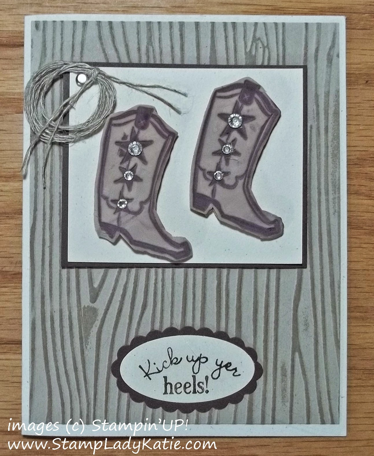 Card made with Stampin'UP!'s Bootiful Occasions stamp set stamped in Polymer Clay