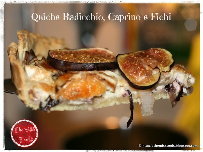 Radicchio, goat cheese and figs quiche