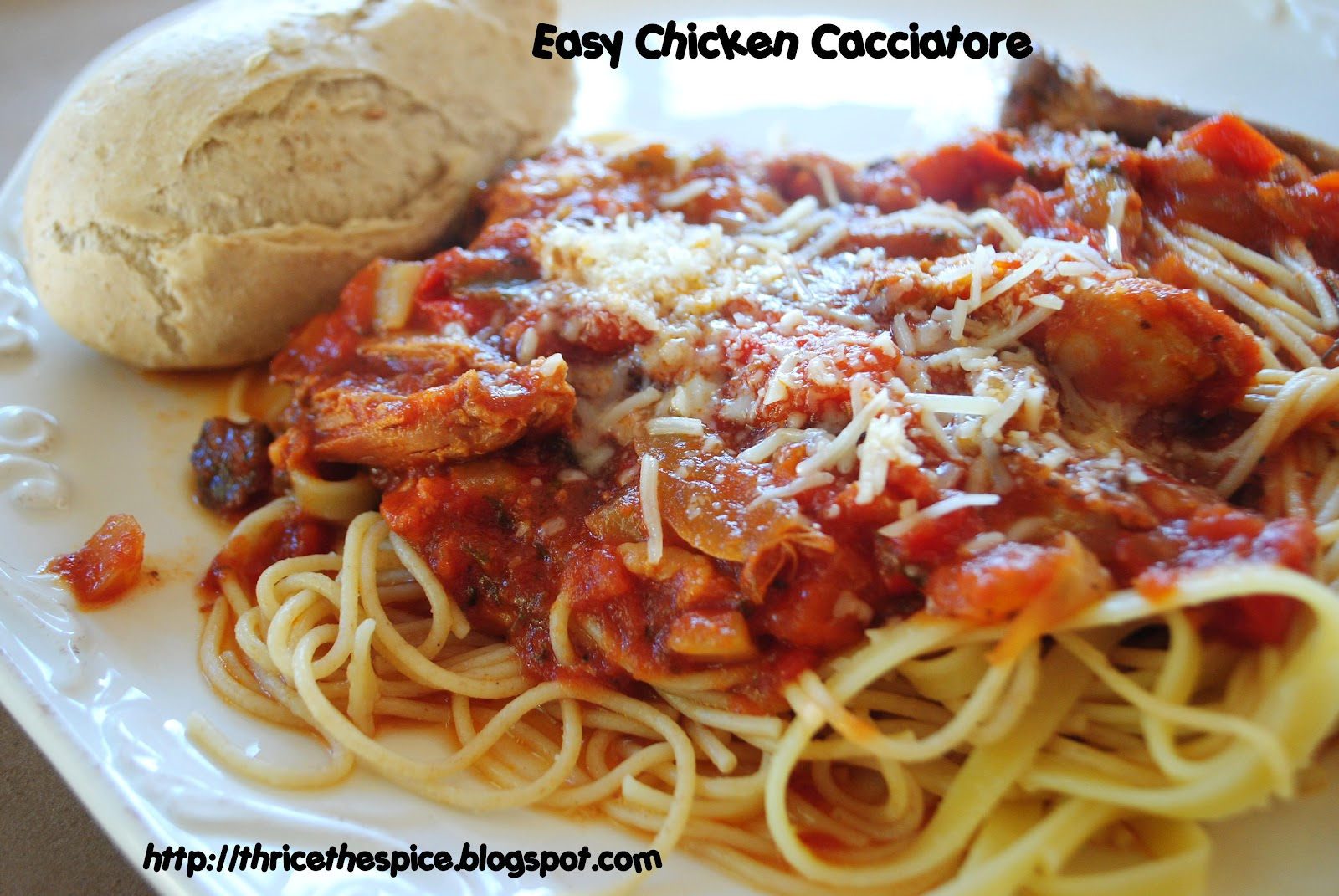 ThriceTheSpice: Easy Chicken Cacciatore