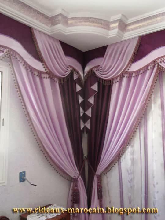 rideaux marocain incroyable double rideaux violet. Black Bedroom Furniture Sets. Home Design Ideas