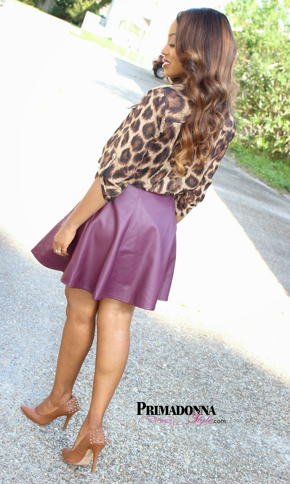 Primadonna style ootd faux leather circle skirt for Faux leather what does it mean