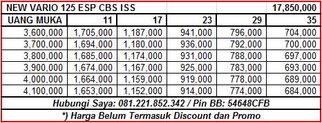 NEW VARIO 125 ESP CBS ISS