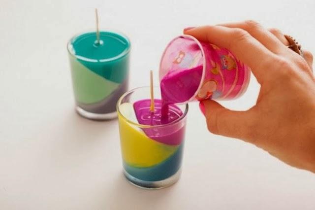 en alguna mesa en alguna repisa librero o en nuestro escritorio de nuestra oficina vers que bien se vern esta velas decorativas coloridas gracias - Velas Decoradas