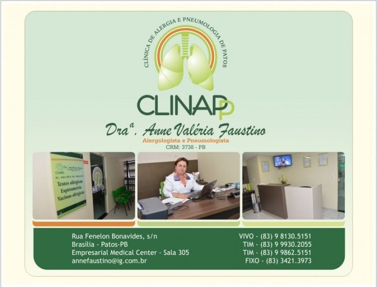 CLINAPP – Clínica de Alergia e Pneumologia de Patos - Aqui Clique na Foto para abri a pagina