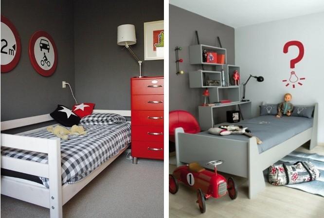 Slaapkamer Rood Grijs : Slaapkamer in rood en grijs u stockfoto photographee eu