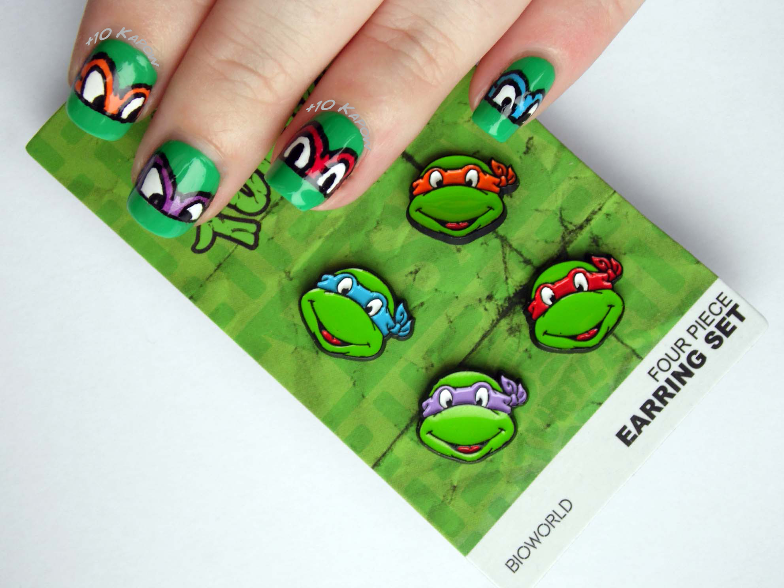 Plus10Kapow: Turtley Awesome: TMNT Nails