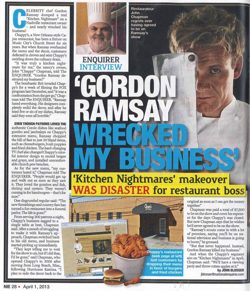 Kitchen nightmares oceana episode / Hotel 13 films nederlands