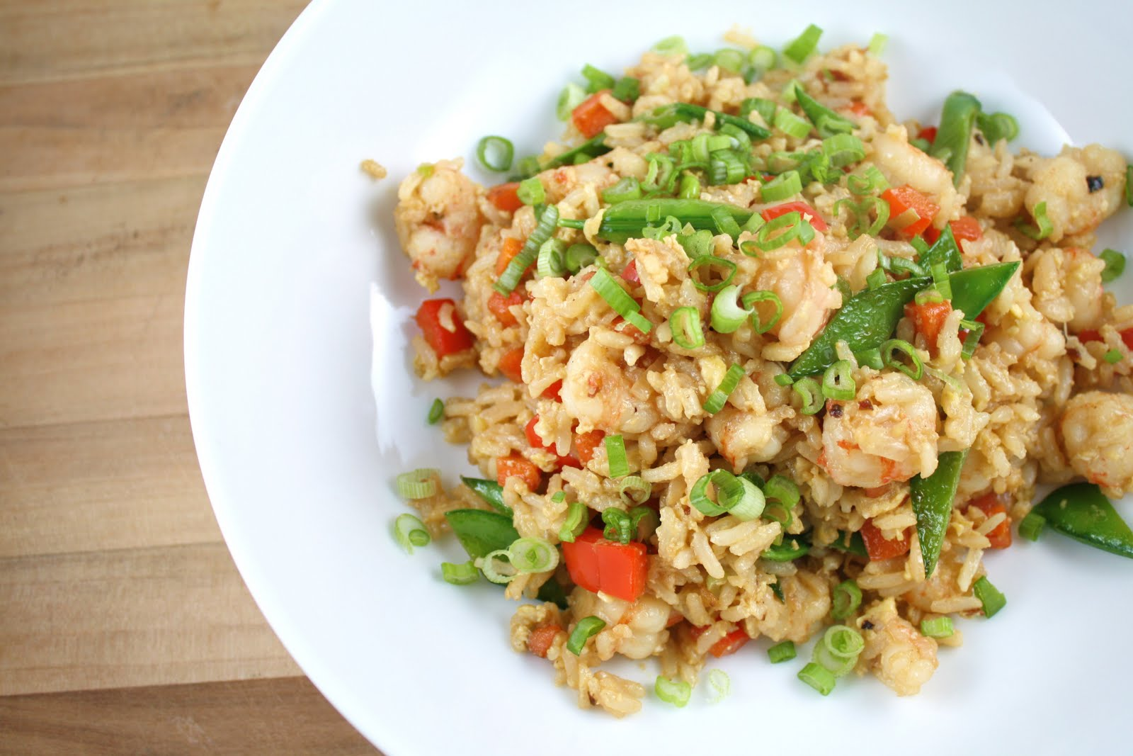 Living on Pure Land: Rock shrimp fried rice