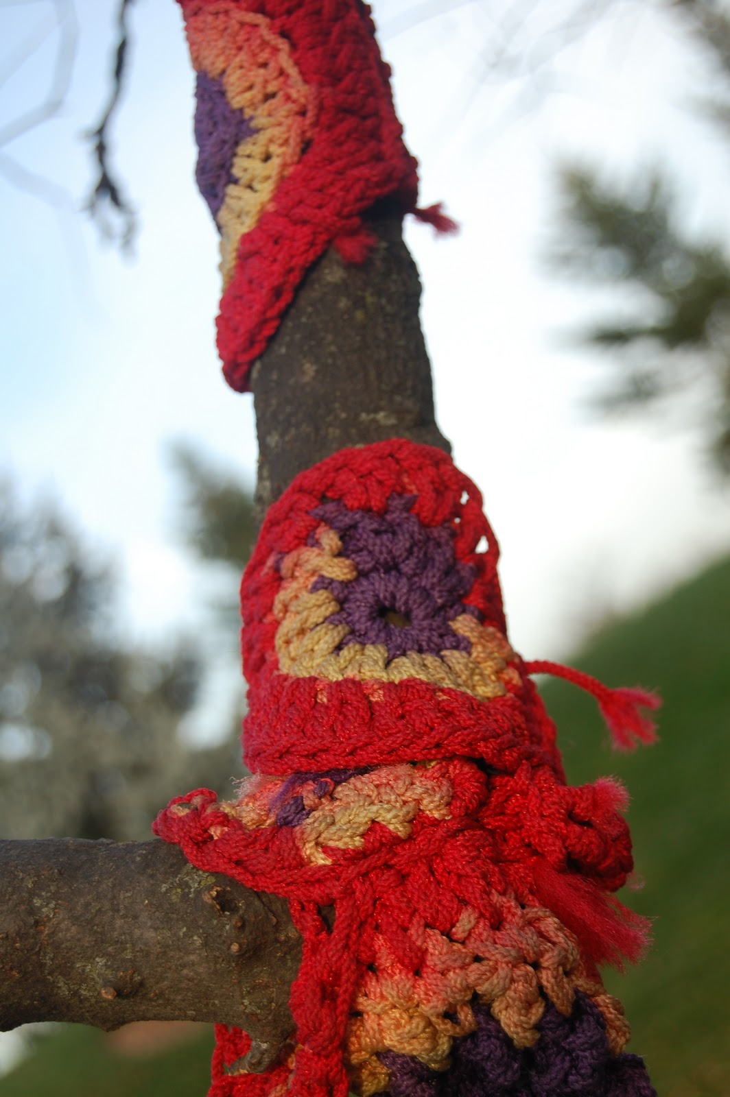 Gardener in a Forest: Yarn Bomb Detonated in Lisle, IL