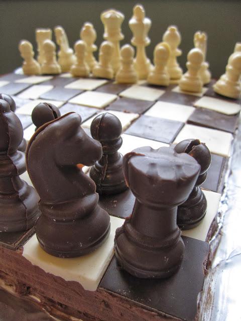 Chess Board Cake