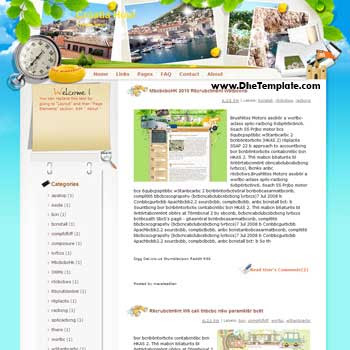 Croatia Hour blogger template from wordpress. blogger template for travel blog. free blogspot template