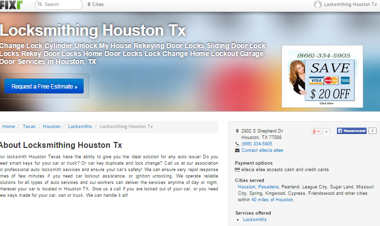 Locksmithing Houston Tx