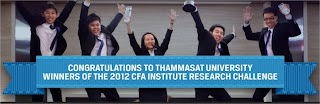 Thammasat university CFA Institute research challenge, financial analyst, chartered financial analyst, CFA, CFA society