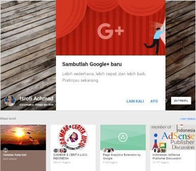 Google+ Tampil Dengan Wajah Baru