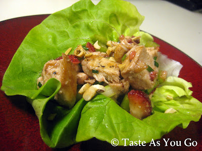 Strawberry Chicken Salad Lettuce Wraps | Taste As You Go