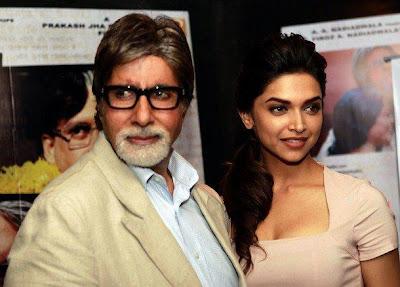Amitabh & Deepika Promote Aarakshan event pictures