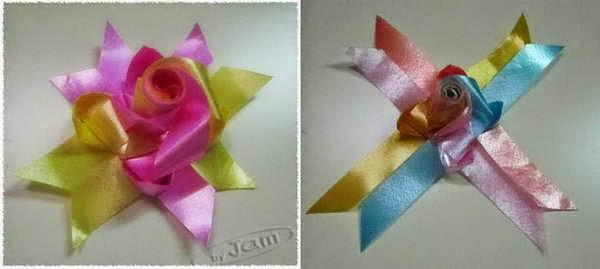 diy fold weave rose ribbon decoration  どのようにローズ リボンを織りに