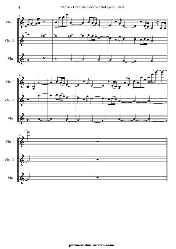Naruto Sheet Music Erkalnathandedecker